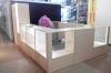 Торговая мебель (пример работы, с угловыми прилавками и подсветка)